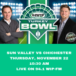 Turkey Bowl to be broadcast live on WIP-FM