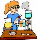 Female chemist clipart
