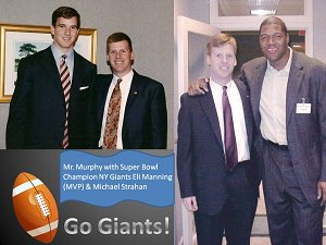 Mr. Murphy with SB Champion NY Giants Players
