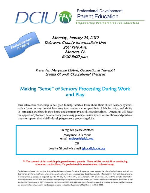 Sensory Parent Training
