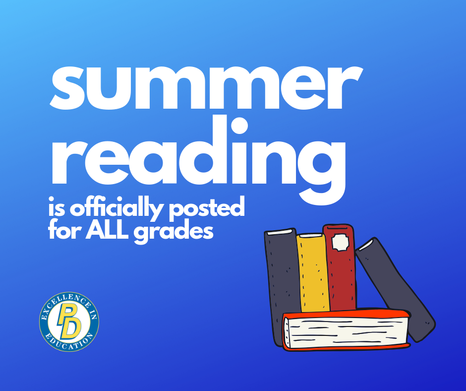 Summer reading is officially posted